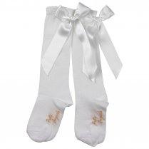 PRETTY ORIGINALS Socks With Bow – White