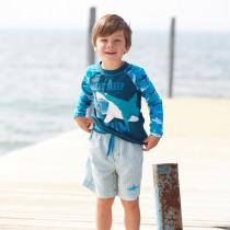 Boys Striped Swim Shorts by Hatley