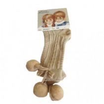 Pretty Originals Pom Pom Socks – Tan