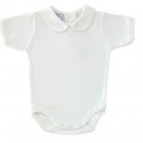 Peter Pan Pique Collar Vest / Body – all White – by Babidu