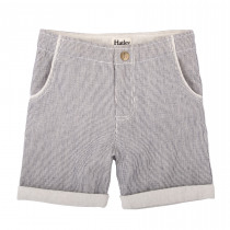 Hatley Boys Grey Pin Striped shorts.