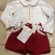 Pretty Originals Red and Cream Shorts Set MC01098