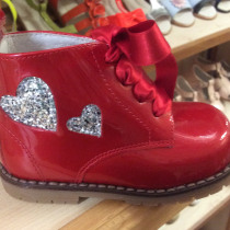 Pretty Originals Red and Silver Boots UE31432E
