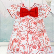 Pretty Originals Red and Cream Dress BD01763