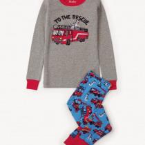 Hatley Boys Fire Trucks Appliqué Pajamas