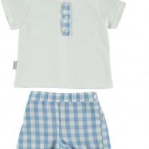 Babidu Baby  Blue Check Shorts Set
