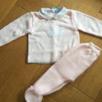 Sardon Pink 2pc  Knit Set with Crown
