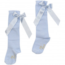 PRETTY ORIGINALS Socks With Bow – Blue