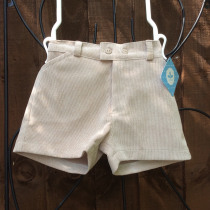 Baby Boys Beige cord  Shorts