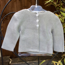 Babidu Baby Steel Grey 100% Cotton Cardigan