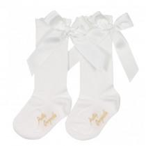 PRETTY ORIGINALS Socks With Bow – Cream