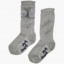 Pretty Originals Pom Pom Socks – Grey