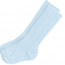 Blue Ribbed Socks by Kinder