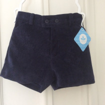 Baby Boys Navy cord  Shorts