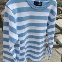 Bob & Blossom Blue Striped Long Sleeve Tee Shirt