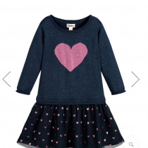 Glitter Heart Dropped waist Dress by Hatley