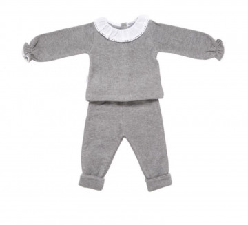 Babidu Frill Collar Grey Set