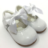 couche tot white Bow shoes