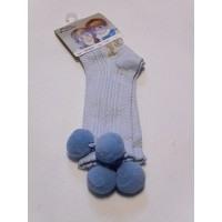 Pretty Originals Pom Pom Socks – Baby Blue
