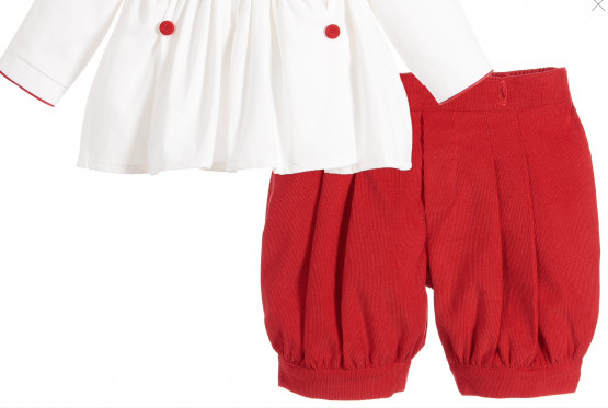 Pretty Originals Boys Smock Set - Red - Traditional Buster Set