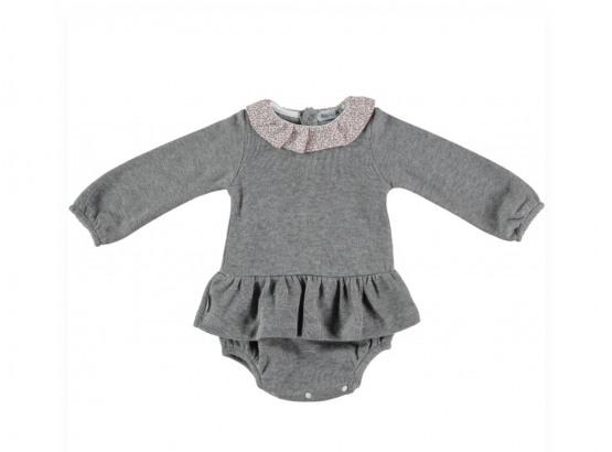 Babidu Baby Girl Romper Dress with Frill Collar
