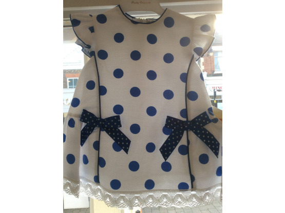 Pretty Originals Girls Royal Blue Spot Dress MB10521