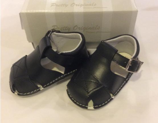 Pretty Originals Baby Boy Navy Box Sandals UE08184