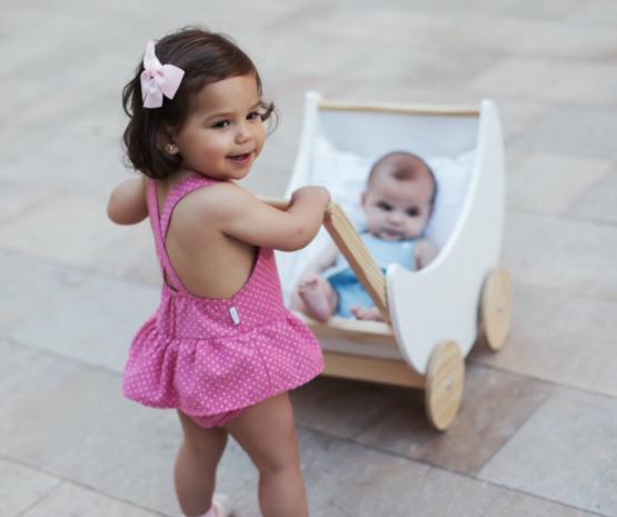 Babidu Baby Girls Rojo  Shortie Romper