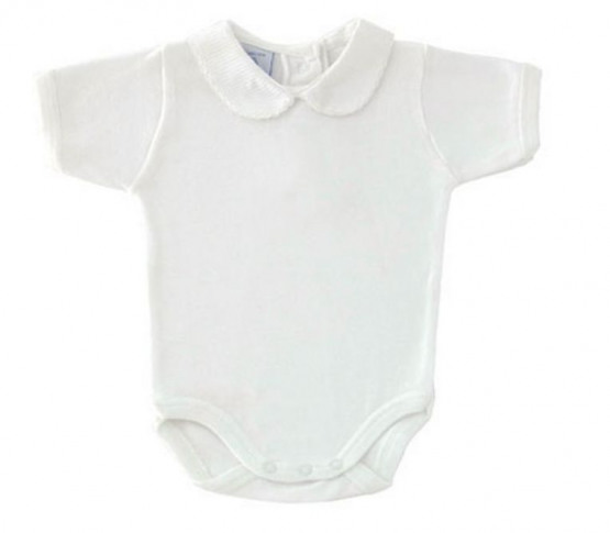 babidu 1181 all white Baby Vest