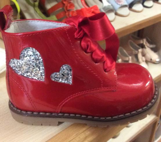 Pretty Originals Red and Silver Boots UE31432E