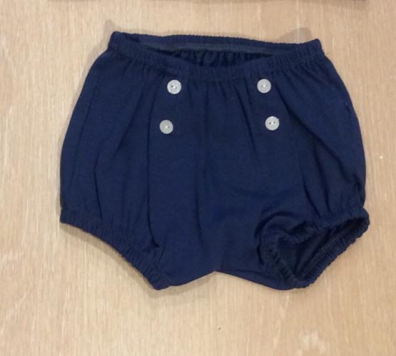 Babidu Navy Striped Peter Pan Collar Shorts Set Ref 42286