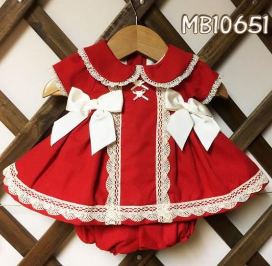 Pretty Originals Baby Girls Red Christmas Dress Ref MB10651