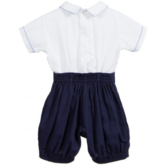 pretty originals boys navy smocked set