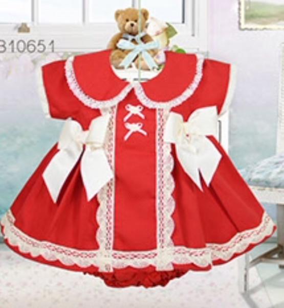 Pretty Originals Baby Girls Red Dress
