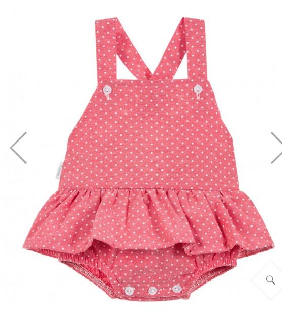 Babidu Pink Frill Dress Romper Ref 93359