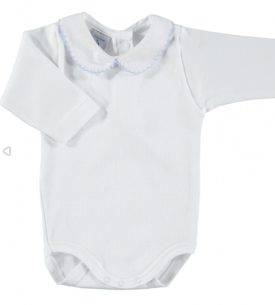 Spanish Brand Babidu Peter Pan Collar Body / Baby Vest / Romper