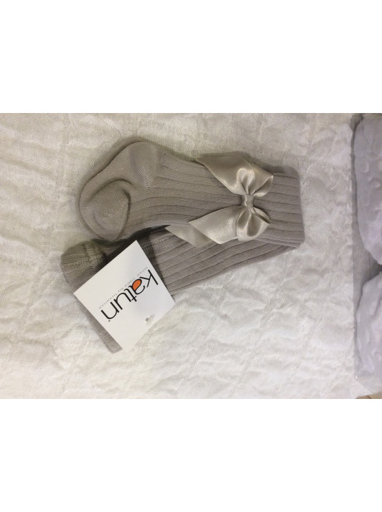 Katun Cotton Rich Bow Tights – Gray
