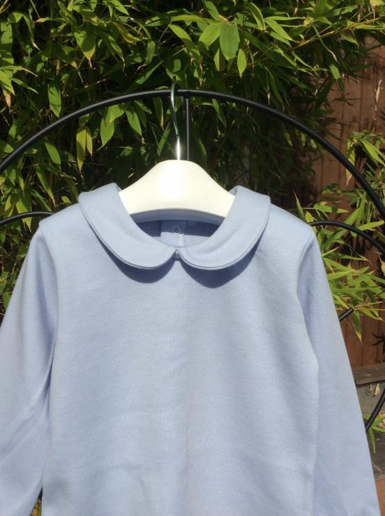 Peter Pan Collar Long Sleeve Top by Babidu