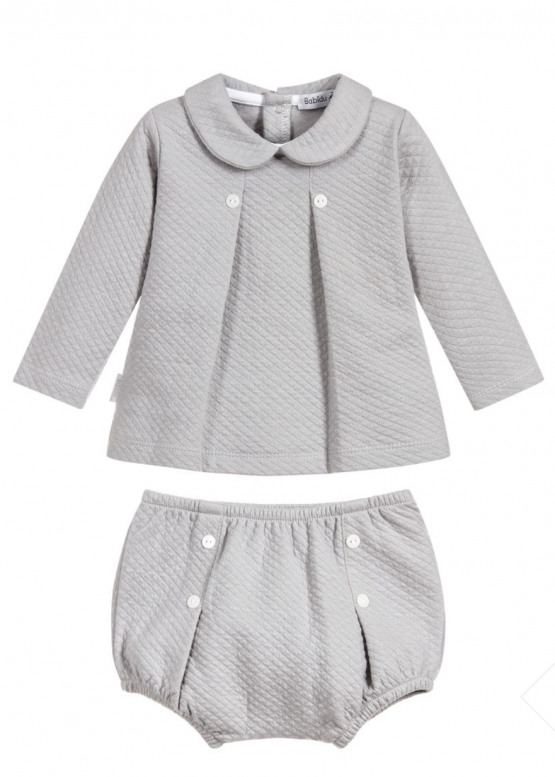 Babidu Peter Pan Collar Grey Set Ref 45190