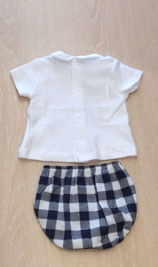 Babidu Navy Check Shorts Set Ref 41404