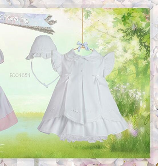 Pretty Originals Pink Dress Set BD01651- Christening Dress