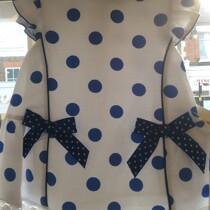 Pretty Originals Girls Royal Blue Spot Dress MB10521