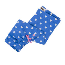 Hatley Blue Heart 3/4 Leggings with Pink Side Bow