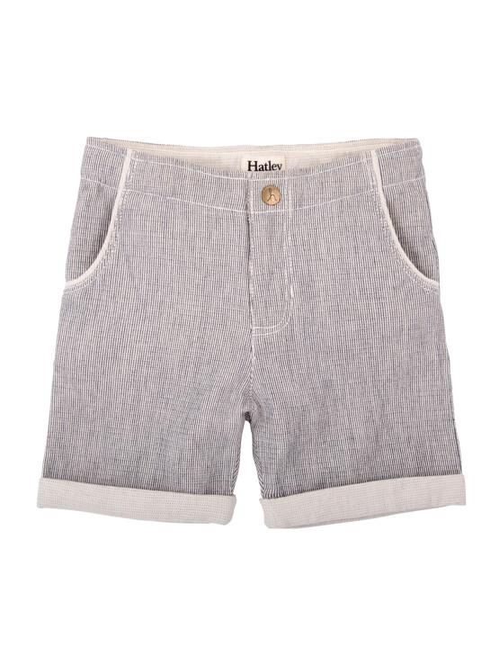 Hatley Boys Grey Pin Striped shorts.