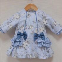 Girls Spanish Style dress by Sardon – Blue