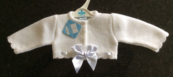 Sardon White Bow Cardigan