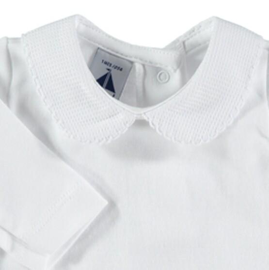 Babidu Peter Pan Collar Vest / Body – All White