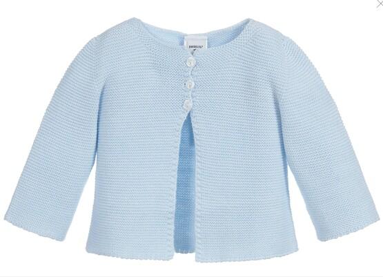 Babidu baby blue 100% Cotton Cardigan