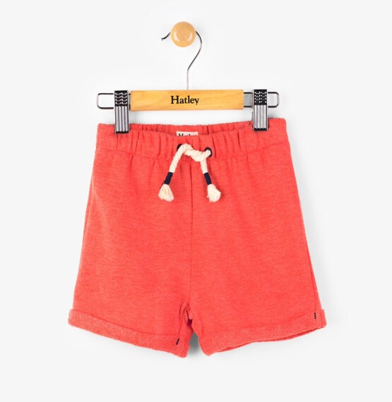 Hatley Fire Corallium mini pull on shorts – orange