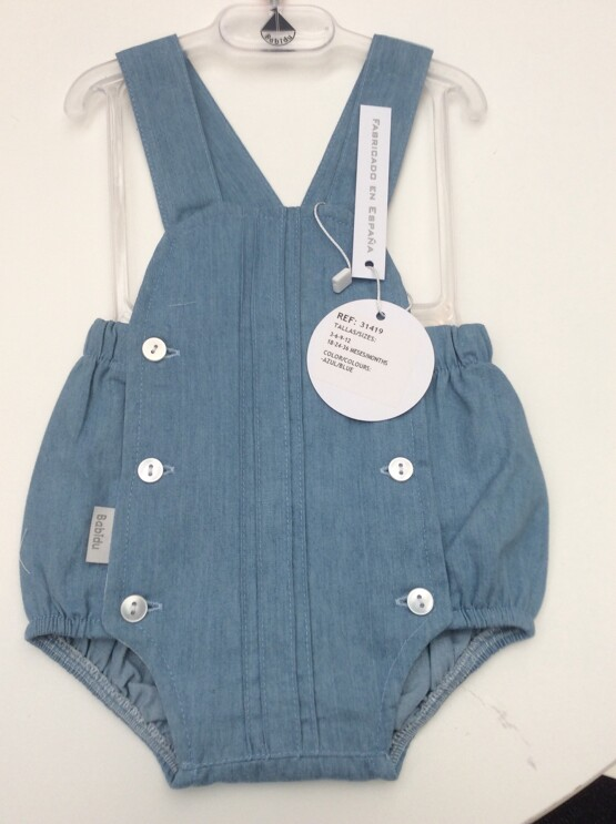 Babidu Denim Look Summer Romper which is Unisex Ref 41419